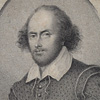 Victorian framed engraving of William Shakespeare