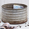 Early-1900s corrugated metal tub, large