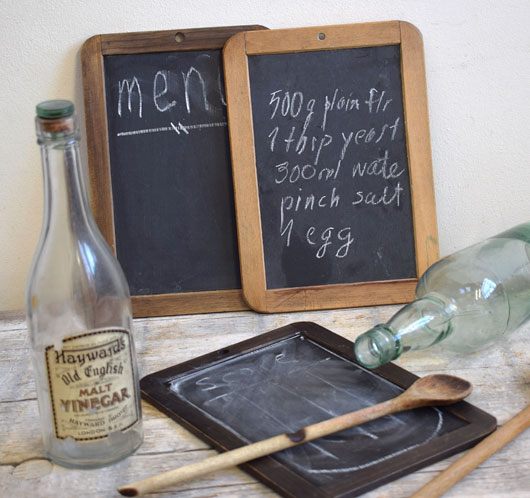 Early-1900s antique school slate chalkboard