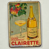 French tin advertising sign: Clairette cider