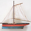 1930s model sailing boat wall hanging