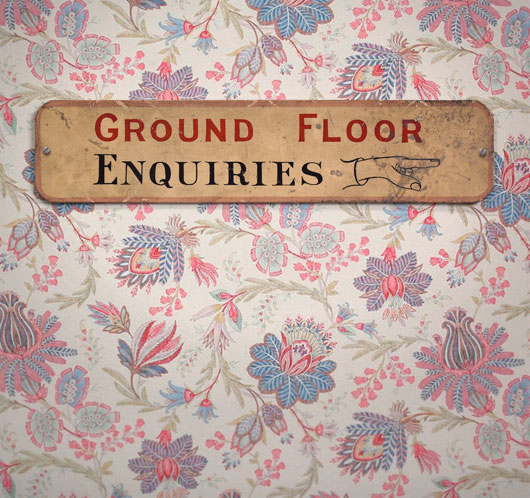 Early-1900s antique painted wooden sign: Enquiries
