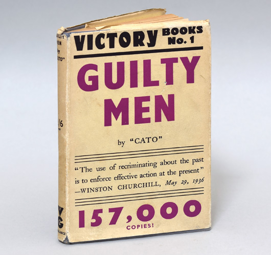 1941 political hardcover: Guilty Men