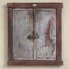 Antique provincial wooden door wall hanging