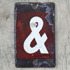 Small Victorian enamel ampersand sign