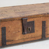 Elongated wooden blanket box, 1916