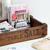 Antique wooden crate: Nutritive Table Salt