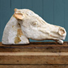 Mixed media horse head sculpture