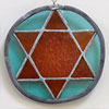 Coloured stained glass star medallion