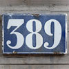 Large antique French building number tile