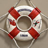 Commemorative Royal Navy model lifebuoy