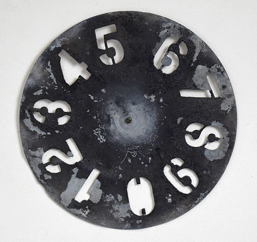Early-1900s vintage signwriter's number wheel, 0-9