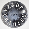 Early-1900s signwriter's letter wheel, O-Z