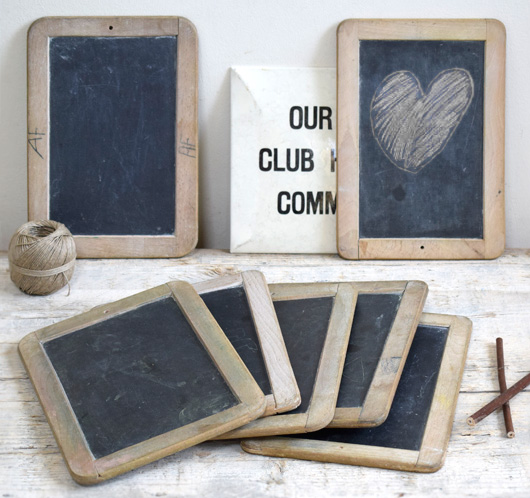 Early-1900s antique school writing slates