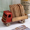 1930s painted wooden toy lorry with tray