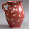 Early-1900s Hungarian spotted pottery jug