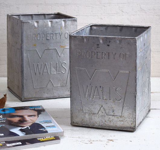 1950s vintage embossed metal ice cream box: Wall's