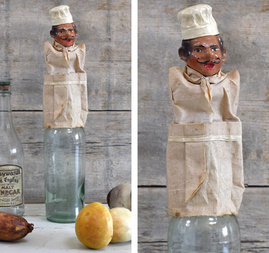 Vintage novelty chef bottle stopper and pourer