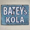 Victorian enamel advertising sign: Batey's Kola