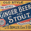 Victorian framed showcard: Old Style Ginger Beer