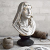 Painted plaster bust of the weeping Madonna