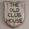 Early-1900s oak shield: The Old Club House
