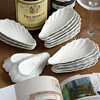 French porcelain oyster shell serving dishes
