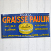 Early-1900s French tin shoe wax sign