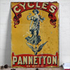 1890s French advertising sign: Pannetton Cycles