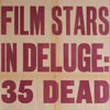 1930s Evening Standard poster: Film Stars In Deluge...