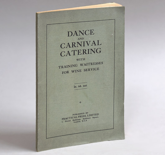 Dance and Carnival Catering, recipe book, c. 1930 first edition