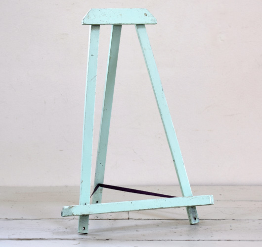 Small vintage painted wooden easel