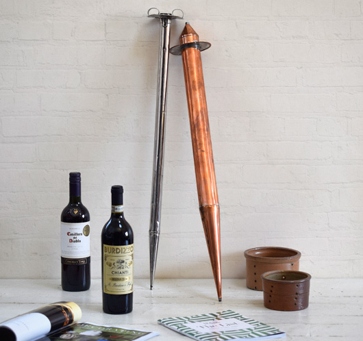 Early-1900s vintage copper wine thief or pipette