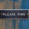 1970s monochrome door sign: Please Ring (S)