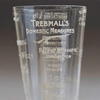 Victorian etched glass kitchen measuring cup