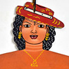 West African folk art dress hanger: Rita